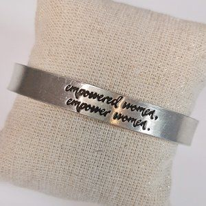 """WHD """"Empowered Women"""" Pewter Bangle Bracelet"""
